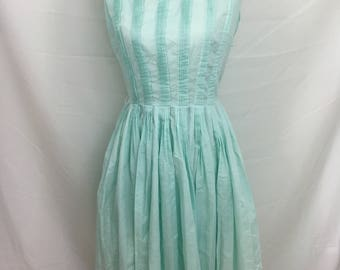 1950's Pale Robin Egg Blue L'Aiglon Dress