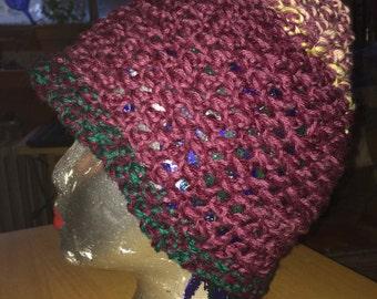 Hand crocheted beanie toque