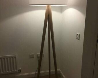 Hardwood floor lamp - Ash