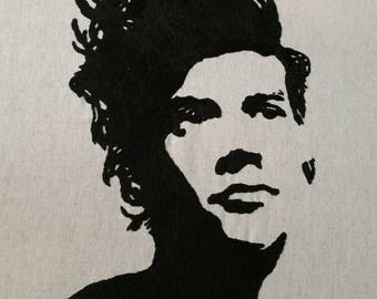 Hand stitched image of Harry Styles - one direction singer