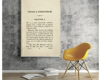 Pride And Prejudice Book Page Poster
