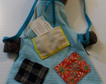 Backpack child - Brown, blue ribbons