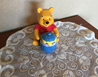 Vintage Winnie the Pooh & his Hunny Pot Salt and Pepper