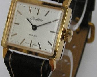 Finest original Glashütte watch GUB Kal. 09-20 DDR, vintage, 80 years