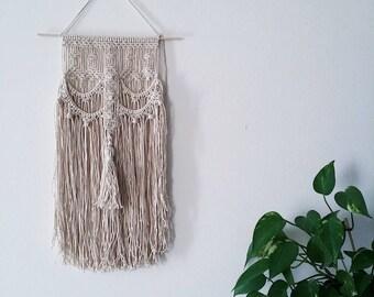 CORDOBA.Tassel Macrame wallhanging, wall hanging, wall art, fiber art, bohemian wall decoration