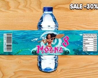 Moana Water bottle labels,Moana labels,Moana water labels,Moana birthday,Moana favor tags,Moana party supplies,Moana