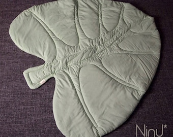 Play mat Leaf Play cm 100x90 about-Play mat for baby-Organic Cotton Leaf Play