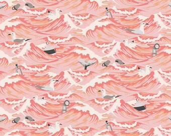 Tula Pink Salt Water Sea Debris Fat Quarter in Coral