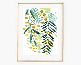 Botanical Prints, Mimosa Print,Instant Download art,Floral Print,Digital Nature Print,Botanical Wall Art,Minimal Botnical,Printable Wall Art