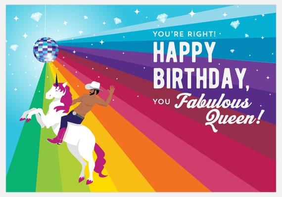 Gay Birthday Card Funny Card Happy Birthday You Fabulous – Gay Happy Birthday Card