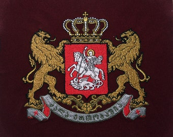 Georgian coat of arms. Embroidery