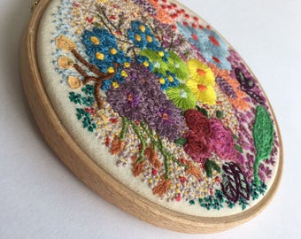 Flowers, Embroidery Art, Hoop Art, Hand Embroidery, Wall Decor