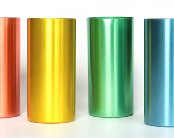 Four Perma Hues Aluminum Tumblers