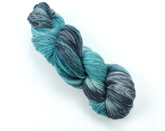 Sea Waves Merino Sock Hand Dyed