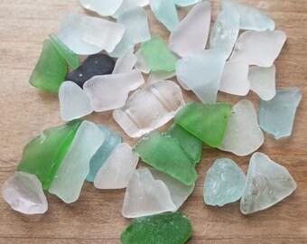 Beach Glass, Seafoam Sea Glass, Green Beach Glass, Assorted colors of Beach Glass, Glass for Mosaics, Craft Beach Glass