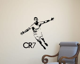 Ronaldo wall sticker etsy for Cristiano ronaldo wall mural