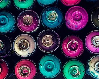 Photograph of spray paint - graffiti
