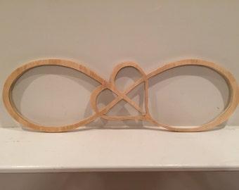 Wood Infinity Heart