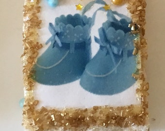 Baby Shower Themed Rice Krispie Treats w/ Edible Image