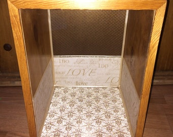 Shadow Box Natural wood Wedding gift Rustic Country