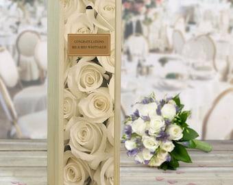 Wedding Roses, Congratulations, Wine Box