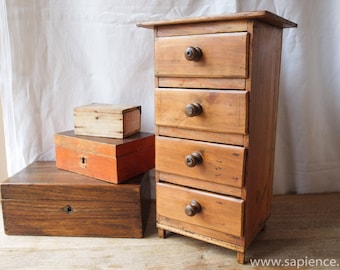 Cute antique French wooden chest of drawers