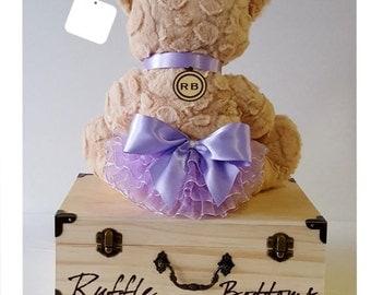 Ruffle Bottoms Monogrammed Baby Keepsake Box in Lilac (FREE SHIPPING!)
