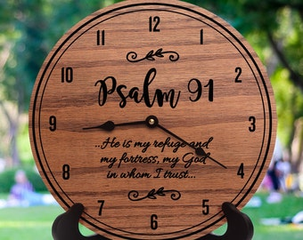 Psalm 91 - Psalm Decor - Scripture Decor - Wooden Decor - Encouraging Decor