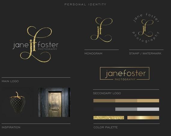 Luxury Brand Board,Logo Package, Photography logo, Blog Logo, Watermark , Gold foil logo, Premade / Custom logo, Business logo, Modern Logo