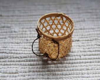 Small basket. Accessory for fairy house, for dolls, for floral design