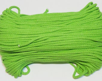 Pistachio cotton cord 100 m (110 yd) 5 mm (0,2 in), cotton rope, macrame cord