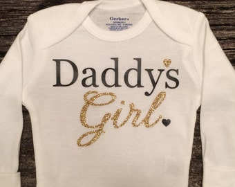 Daddys Girl, Baby Girl Onesie, Baby Shower Gift, Baby Girl Gift, Infant Clothing, Cute Baby Gift, Newborn Onesie