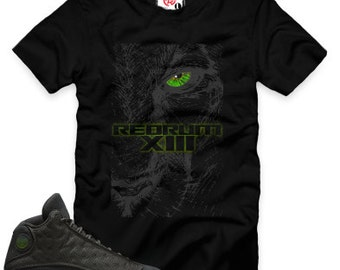 Black Cat 13 Redrum XIII T-Shirt