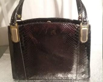 Vintage 50s snakeskin bag