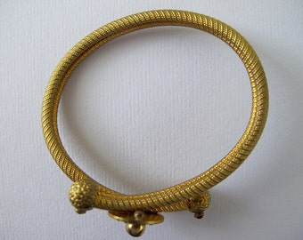 Small Victorian Etruscan Revival Bypass Bracelet