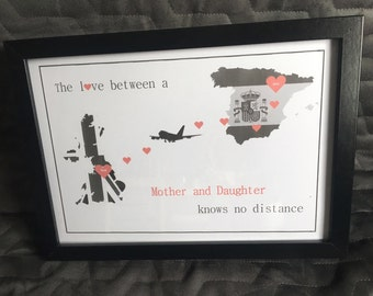Personalised 'The Love Between' Print with Frame
