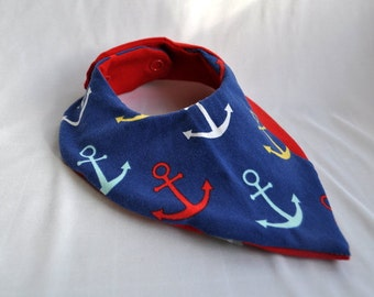Slobber cloth anchor on blue