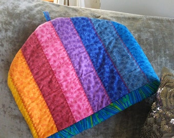 Bright striped quilted generous size TEA COSY