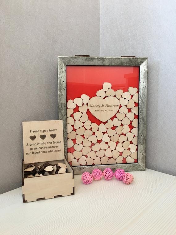 Wedding guest book,vintage,guest book,alternative drop box,drop top box,guest book hearts,memory heart box,drop top guest book,drop box