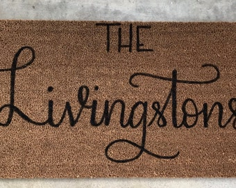 Personalized doormat | Welcome mat | Last name | Wedding gift |