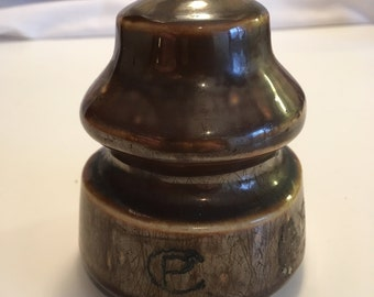Brown Canadian Pacific Railway Co. Porcelain Insulator