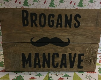 Mancave Sign, Wooden Sign, Mancave, Reclaimed Wood, Shed Sign, Garage Sign, Office Sign, Man-Cave Sign, Gifts For Men, Gifts For Dads, Gift