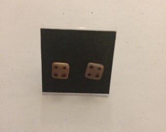 Pink Tile Picasso Stud Earrings