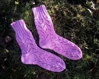 Hank Knit Wool Socks
