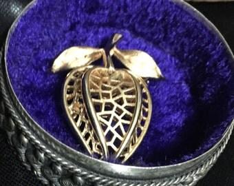 Trifari strawberry style brooch