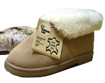 Sheepskin slippers beige