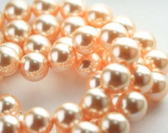 10 pcs Swarovski® 5811 12.0 mm Crystal Peach Pearl 300