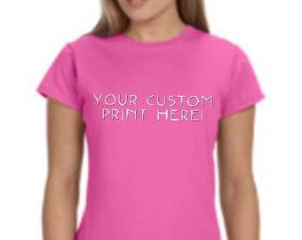 Ladies Softstyle Tee w/ custom print