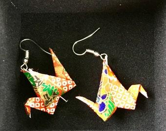 Paper Crane Earrings