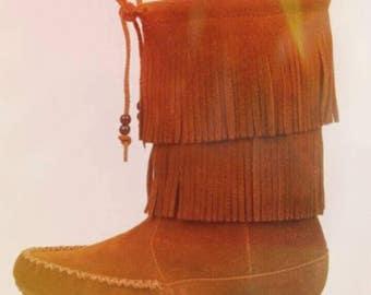 Bohemian Minnetonka Boots, bohemian, hippie, moccasins
